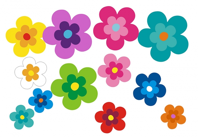 Hippie Flower Set 039 - in edler Matt Optik - XL Pack 26 Stück