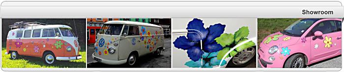 aufkleber autoaufkleber blumenaufkleber hippie blumen reserveradcover flower power peace zeichen. Black Bedroom Furniture Sets. Home Design Ideas