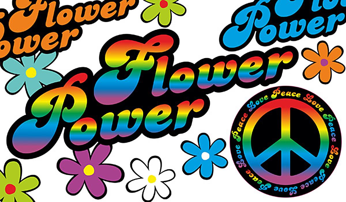 Autoaufkleber Aufkleber Hippie Blumen Reserveradcover ...